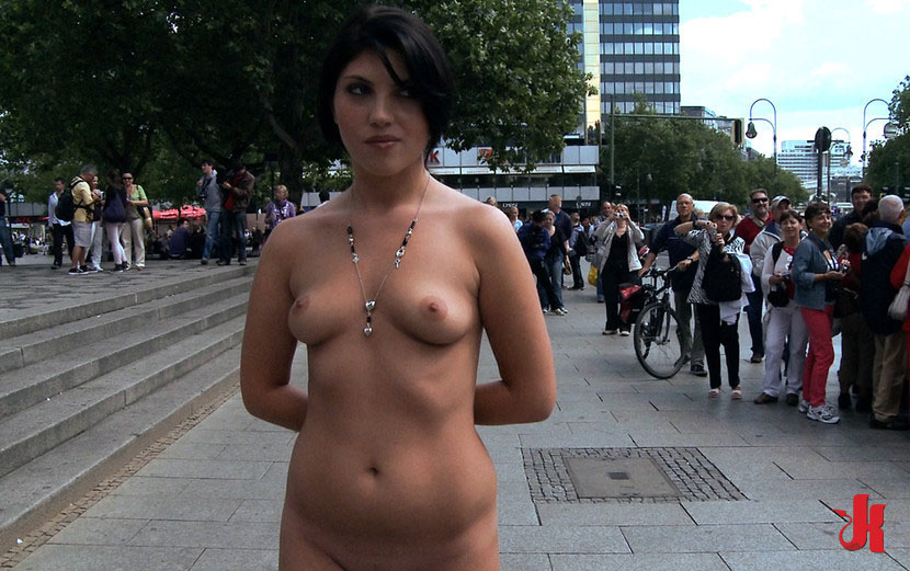 Have hit Humiliation nude public girl think, that