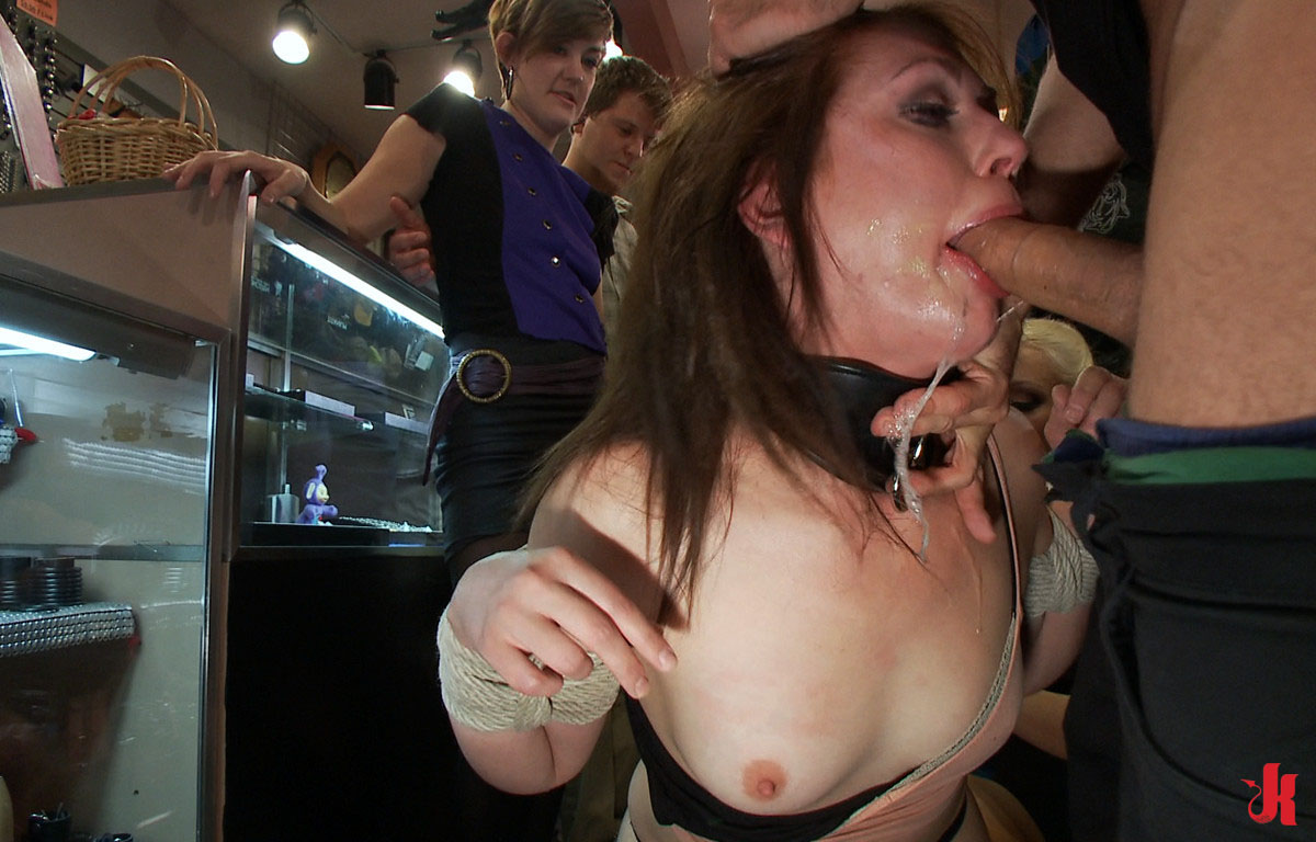 Public Disgrace - Sarah Shevon undressed and bound in ...